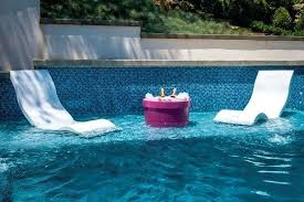 In Water Pool Chairs Furniture Lounge Shelf Underwater Swimming
