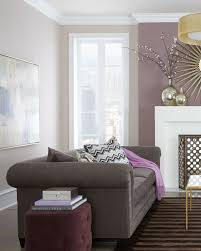 living room living room purple colors with brown paint