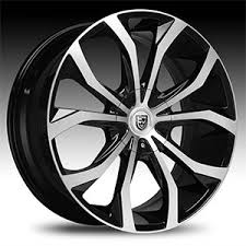 Lexani Wheels Lexani LX15 LX 15 Black Machined w Chrome Lip