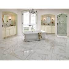 style selections calacatta white porcelain floor and wall tile