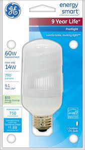 ge lighting 85384 14 watt outdoor cfl post light 60 watt