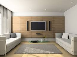 Light Modern Living Room With Flat Screen TV And Wood Floors