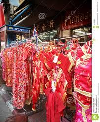 chinese clothing shop at chinatown bangkok thailand editorial