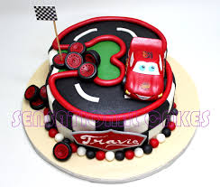 The Sensational Cakes NUMBER 3 THREE RACE CARS CAKE SINGAPORE