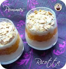 recette avec ricotta dessert verrine pomme ricotta cannelle et flocons la boîte à sucre
