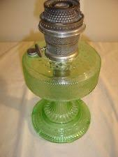 Aladdin Oil Lamps Ebay by Large Original Antique Green Glass Cathedral Aladdin Oil Lamp