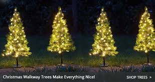 Outdoor Light Up Christmas Trees