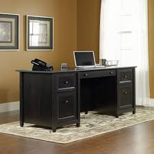 DeskCheap Student Desk Rustic Executive Office Solid Oak L Shaped Used