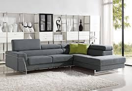100 Sofa Modern Darby Grey Fabric Sectional Set