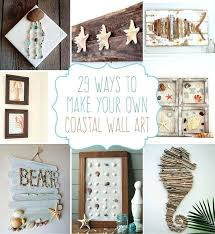 Beach Craft Ideas Crafts Coastal Wall Art For Toddlers