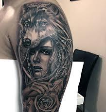 Wolf Tattoos Designs Men