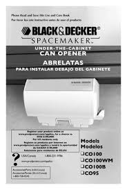 Black And Decker Under Counter Can Opener by Black And Decker Spacemaker Can Opener Co100 Co100wm Co100b Co95