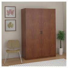 kendrick wardrobe storage closet brown oak ameriwood home target