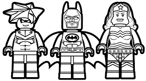 Lego Batman And Nightwing Wonder Woman Coloring Book Pages Kids Fun Art