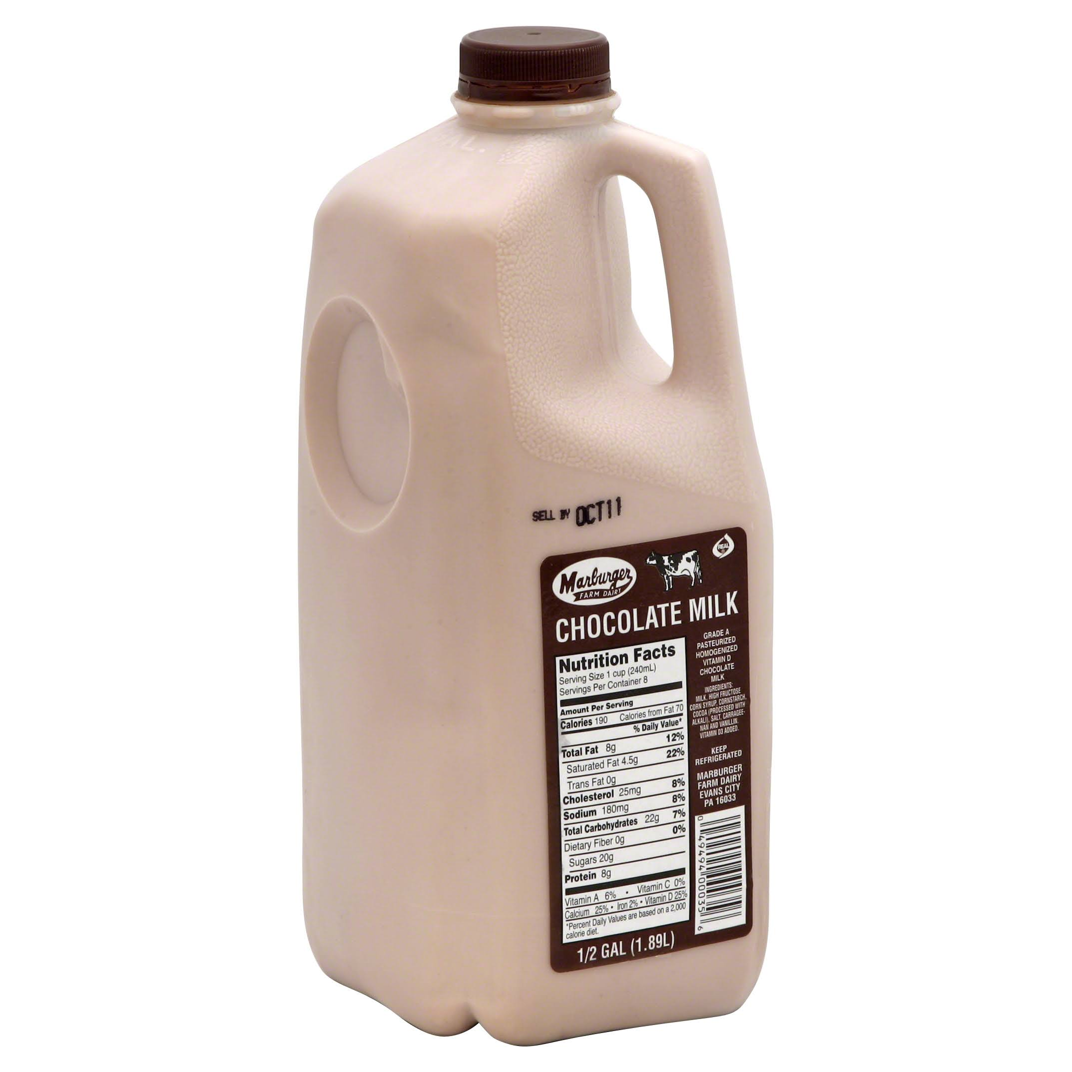 Marburger Milk, Chocolate - 0.5 gal (1.89 l)