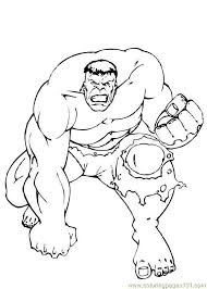 Printable Hulk Coloring Pages 16 Incredible Page
