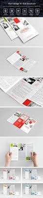 Flat Collage Tri Fold Brochure In Five Different Color Concept Comes With Idea Each Small Panel Of Contain Services Facilities Offer