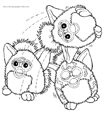 Furbies More Free Printable Cartoon Character Coloring Pages