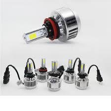 3 sides car headls h7 led headlights bulbs 24w 12v cars cob
