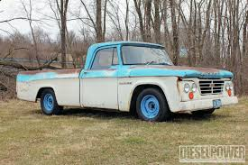 100 67 Dodge Truck 1965 D100 NickelandDime Diesel Power Magazine
