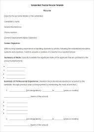 Sample Best Teacher Resume Template1