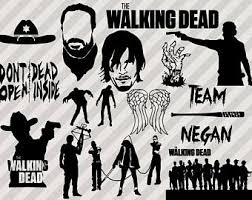 Walking Dead Pumpkin Stencils Printable by The Walking Dead Clipart Cartoon Pencil And In Color The Walking