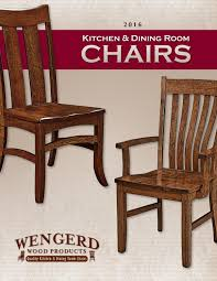 2016 Wengerd Wood Products Catalog / Dining Chairs / E & G Amish ...