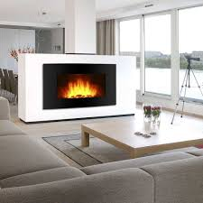 Black Electric Fireplace Wall Mount Heater Screen Color Changing