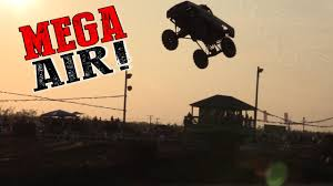 World Record Mega Truck Jump - Busted Knuckle Films