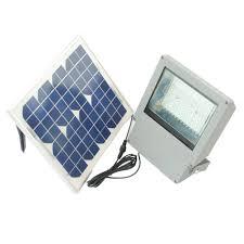 solar goes green solar integrated led gray outdoor flood light