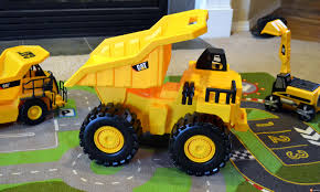 100 Caterpillar Dump Truck Toy Hauling Mud And Rocks With The State Big RevUp Dad