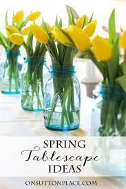 Spring Easter Tablescape Ideas DinnerEaster BrunchEaster CenterpieceTable
