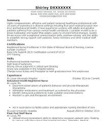 Nicu Nursing Resume Examples And Registered Nurse Template