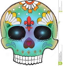 Easy Sugar Skull Day Of by Sketchy Day Of The Dead Sugar Skull Royalty Free Stock Image