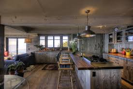 rustic track lighting kitchen style with reclaimed wood