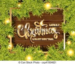 Christmas Tree Branches Border