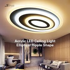 modern acrylic led ceiling light elliptical ripple shape ceiling panel led living room bedroom indoor 8cm high led lighting