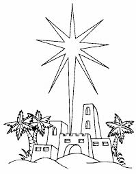 Coloring Page Of A Christmas Star