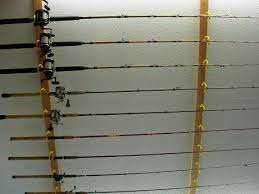garage storage ideas for fishing rods ceiling mounted rod holder