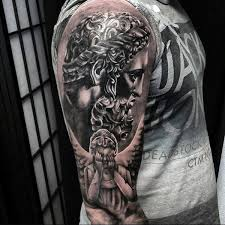 Guardian Angel Tattoo Sleeve Designs
