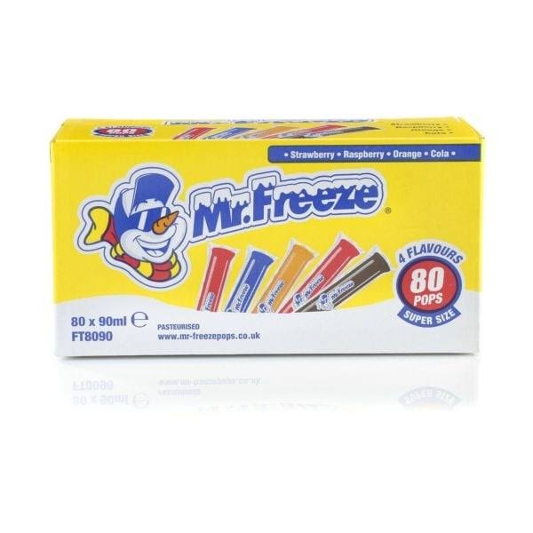 Mr Freeze Ice Pops x 80 (2 Pack)