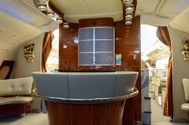 Emirates Airbus A380 Aircraft Business Class Interior Editorial