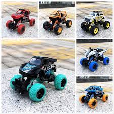 100 Hot Wheels Monster Truck Toys Series Scrawl Wheel 1 32 Scale Pull Back Metal Toy Car Christmas Christmas Gift For Kids