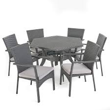 Great Deal Furniture 304188 Amethyst Outdoor 7 Piece Hexagon Dining Set  With Brown Wicker Chairs And Grey Water Resistant Cushions Rattan Ding Chair Set Of 2 Mocka Nz Solid Wood Table Wicker Chairs Garden Table And Chairs 6 Seater Triple Plate Grey Granite Wicker Grosseto Cream Wood Round With 5 In Blandford Forum Dorset Gumtree Teak Driftwood Sunbrella Details About Louis Outdoor 7 Piece Acacia Stacking Shore Coastal Cushion Room Trends Ideas For 20 Hayneedle Sahara 10 Seat Top Kai Setting Sicillian Stone Half Rovicon Saltash Small Extending 4 Amari 1