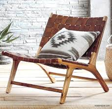Teak Wood And Leather Lounge Chair By Artisan Living In 2019 ...