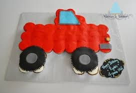 Pull Apart Cupcake Cakes | 37 White Cupcakes, Buttercream Icing And ... Firetruckcupcakes Bonzie Cakes Of Bluffton Sc Blaze Monster Truck Cake Cupcake Cutie Pies Decoration Ideas Little Birthday Fire Cupcakes Ivensemble The Jersey Momma All Aboard Pirate Dump Cake Our Custom Pinterest Truck Fondant Toppers 12 Cstruction Garbage Trucks Gigis Nashville Food Roaming Hunger By Becky Firetruck To Roses Annmarie Bakeshop