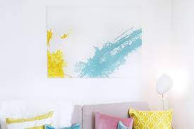 bild fürs wohnzimmer ideen und buntes diy mit dem