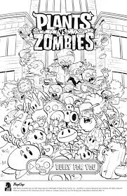 Plants Vs Zombies Coloring Sheets