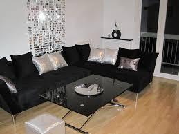 déco canapé noir decoration salon canape noir