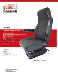Falcon - Knoedler Manufacturers Seats For Medium Duty Truck Bostrom Seating Cstruction Australia Pacific Powertrain Bose Cporation Introduces The Ride System Heavyduty Isuzu Commercial Vehicles Low Cab Forward Trucks Active Suspension Seat 6860870 Air Bus Ingrated Isri Best Quality 7387 Squarebody Front Kit 731987 Sears D5575ah 12v Svith Heavy Equipment Intertional Service Supply Corbeau Racing Belts And Bags